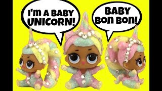 LOL Lil Sister BON BON UNICORN CUSTOM  Doll Story L.O.L. Surprise Video Girly Girlz