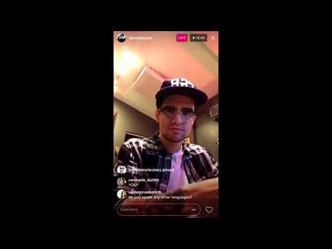 Brendon's Instagram Live on October 23rd 2017
