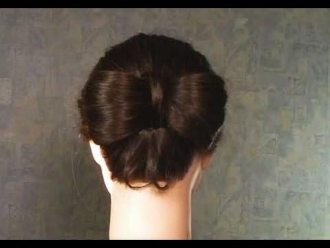 """Прическа """"Бант из волос""""."""