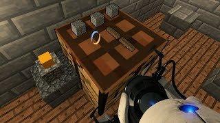 Крафт Вживую - Майнкрафт Карта в Portal 2