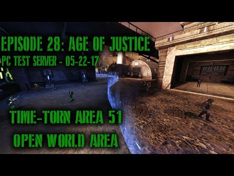 DCUO Test Server: Ep28 - Time-Torn Area 51 Open World Area