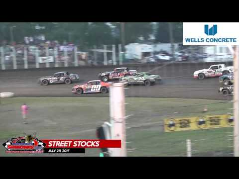 Wells Concrete Street Stock Highlights – July 28th, 2017 – River Cities Speedway