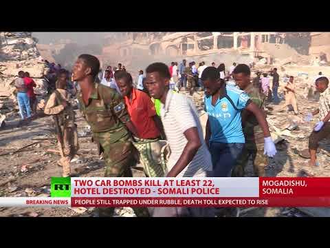 At least 22 killed as twin blasts rock Somali capital