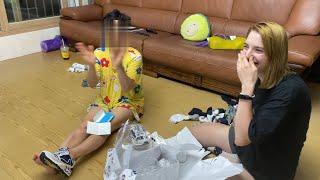 우크라이나여자친구가 깜짝 생일파티해줬을 때 엄마 반응