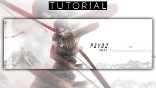 Tomb Raider Twitter Header Tutorial | Photoshop CC