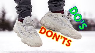 how to style yeezy 500 blush simple tips