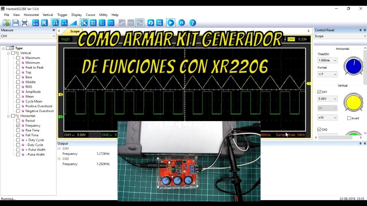 Circuito Xr2206 : Como armar kit generador de funciones con xr gentileza de