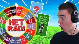 *CHALLENGE* SPIN HET RAD!  DIT RAD BEPAALD MIJN GAMES - Fortnite (Nederlands)