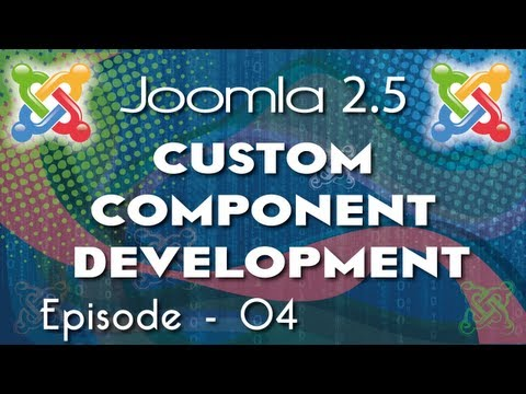 Joomla 2.5 Custom Component Development - Ep 4 - How To Use Controller  In Joomla Component