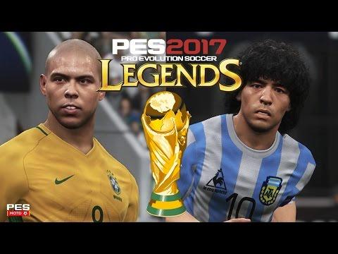 PES 2017 WORLD CUP LEGENDS Classic Argentina vrs Classic Brasil EPIC Full Match