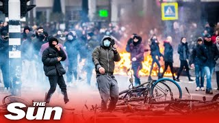 Anti-lockdown RIOTS rage on as Netherlands 'heads for civil war'