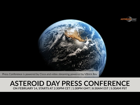 Asteroid Day Press Conference LIVE from Luxembourg | February 14 | starts at 2.30PM CET