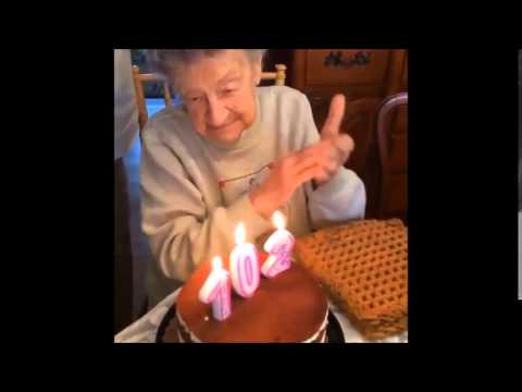 HILARIOUS Grandma Blows Out Dentures Whilst Trying To Blow Out