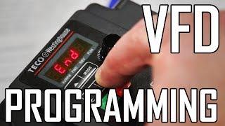 Lathe VFD 2: How to Program a VFD for a lathe (Teco-Westinghouse L510)