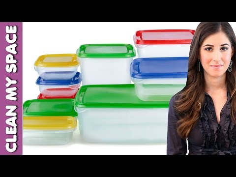 Cleaning Plastic Containers: How to Clean Plastic Food Storage Items Fast & Easy (Clean My Space)