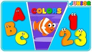 Learning Songs | ABCs, Colors, 123 for Growing-up kids | Preschool Songs  From Nursery Rhymes Junior