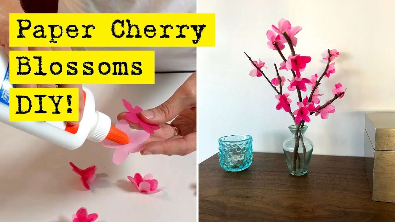 How to make paper cherry blossoms youtube how to make paper cherry blossoms mightylinksfo