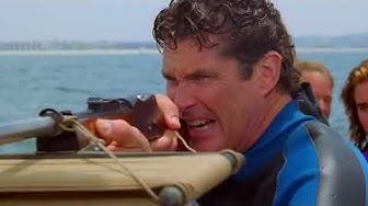 SHARK HUNT! A GREAT WHITE SHARK Attacks Mitch & Caroline! Baywatch Remaster