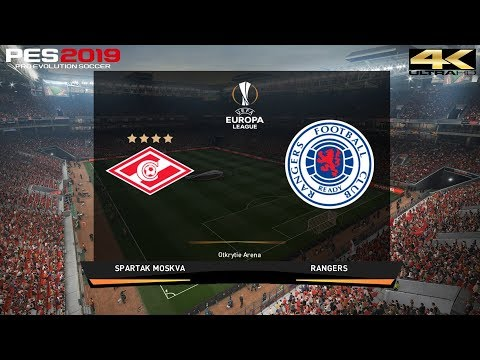PES 2019 (PC) Spartak Moscow vs Rangers | UEFA EUROPA LEAGUE PREDICTION | 8/11/2018 | 4K 60FPS
