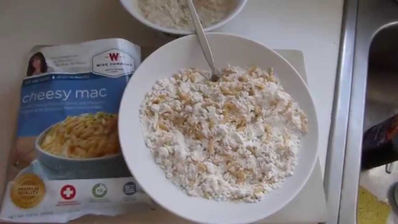 Wise Foods Cheesy Mac Survival Storage Meal Youtube