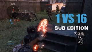 1 vs 16 Comeback (Sub Edition) - The Last of Us: Remastered Multiplayer (Suburbs)