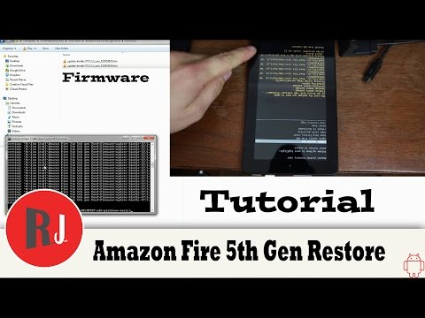 How to Firmware Restore or Unbrick your Amazon Fire 5th gen Tablet