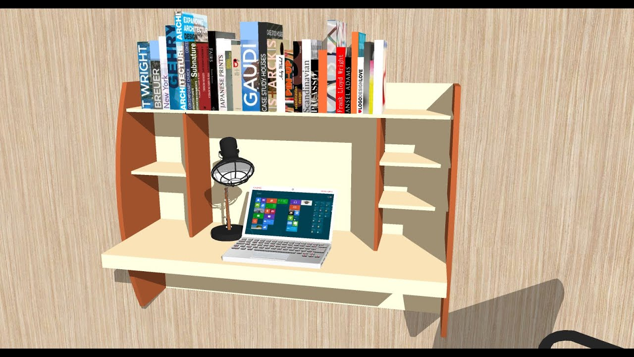 Wall Mounted Study Desk | Custom Study Table   Nafees Creations Pearland TX