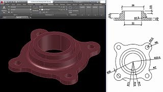 AutoCAD Mechanical Modeling and Visualization - PART1 | Create a Coupling Using AutoCAD