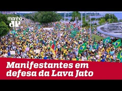 Manifestantes saem às ruas do País em defesa da Lava Jato