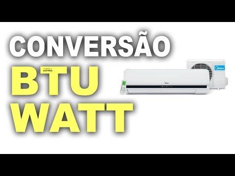 Conversão de BTU para Watts! Entenda!
