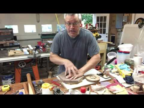 Wood turning a simple segmented bowl