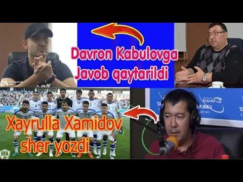 Davron Kabulovga Javob qaytarildi l Xayrulla Xamidov Sher yozdi