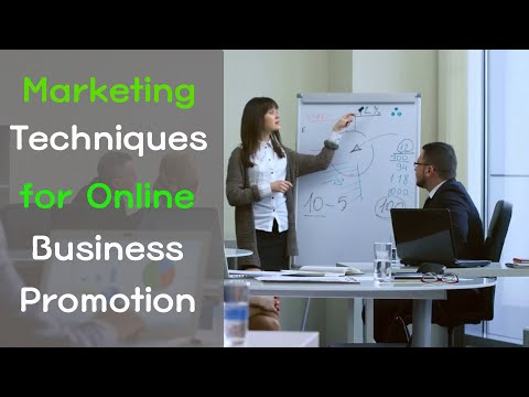 Marketing Techniques for Online Business Promotion