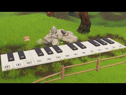 Oversized Piano Location & Play The Sheet Music Guide - Fortnite (Boogie Down Challenges)