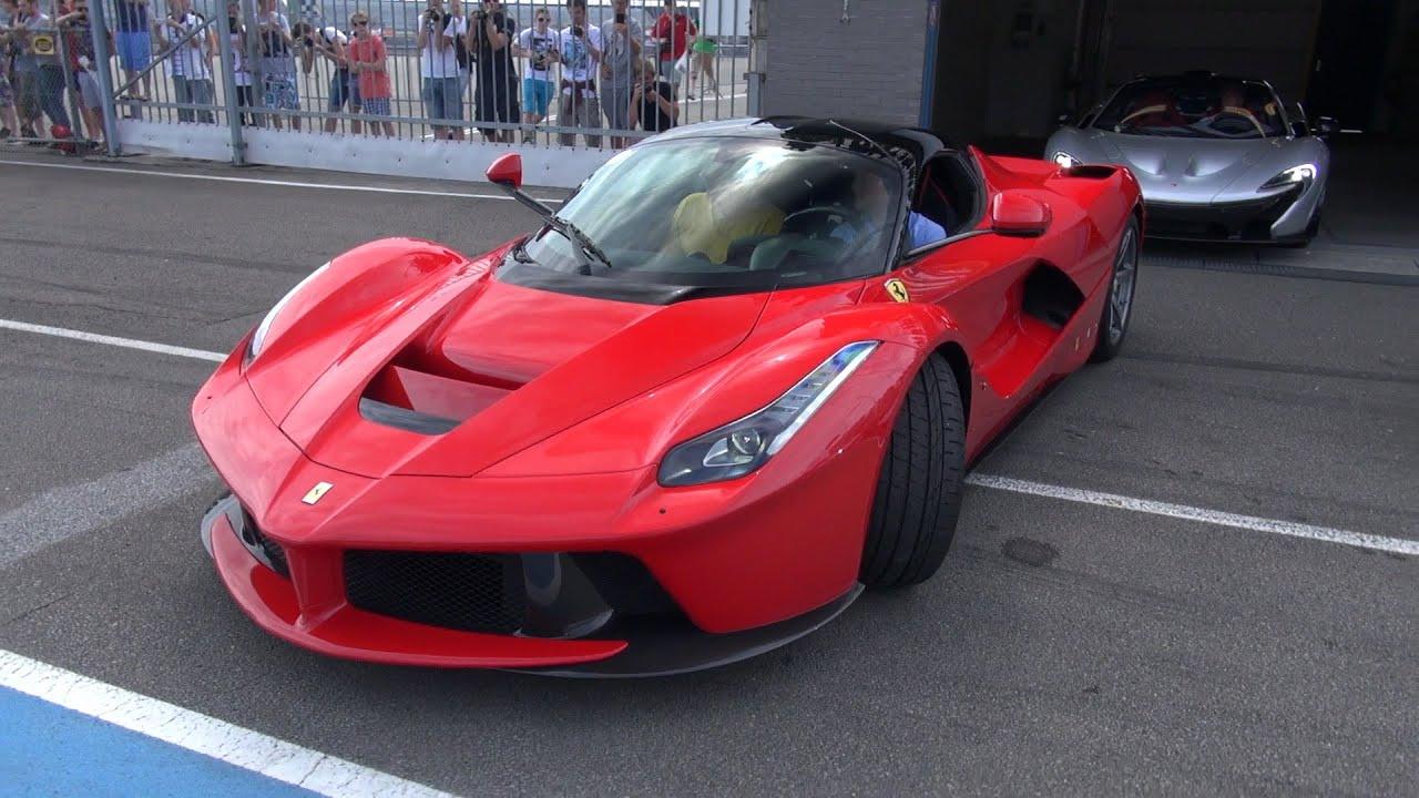 Ferrari Laferrari Exhaust Sounds On The Track