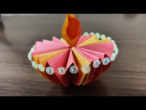 Diwali craft | Paper Diya | Paper Craft Idea | Festive Decorations | Valentine gift