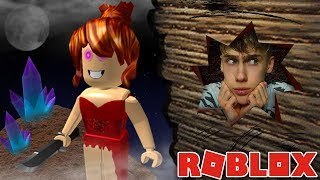 THE RED DRESS GIRL SEES ME! Roblox