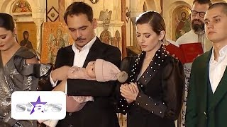 Lidia Buble si Razvan Simion au crestinat o fetita