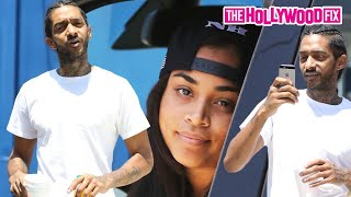 Nipsey Hussle Loses His Cool With Paparazzi After Being Spotted Shopping With Lauren London 7.28.15