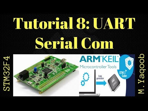 STM32F4 Discovery board - Keil 5 IDE with CubeMX: Tutorial 8 UART