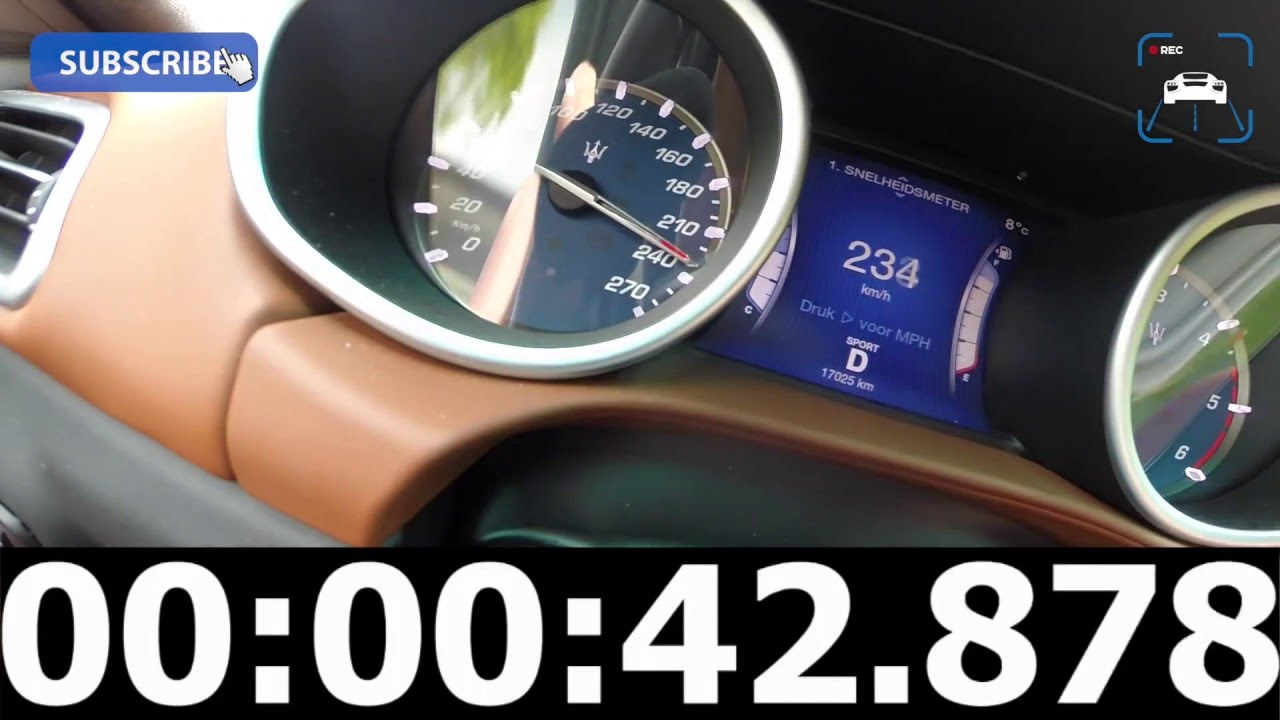 Maserati Ghibli Diesel 3.0 V6 Turbo 275 HP Acceleration Top Speed 0 ...