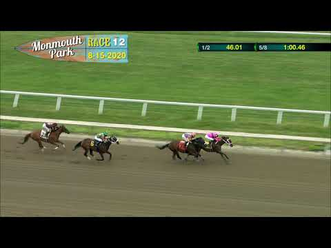 video thumbnail for MONMOUTH PARK 08-15-20 RACE 12