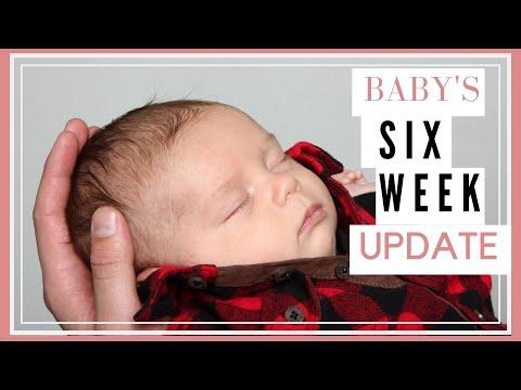 BABY'S SIX WEEK UPDATE!! // BREASTFEEDING, SLEEPING, LAUGHING