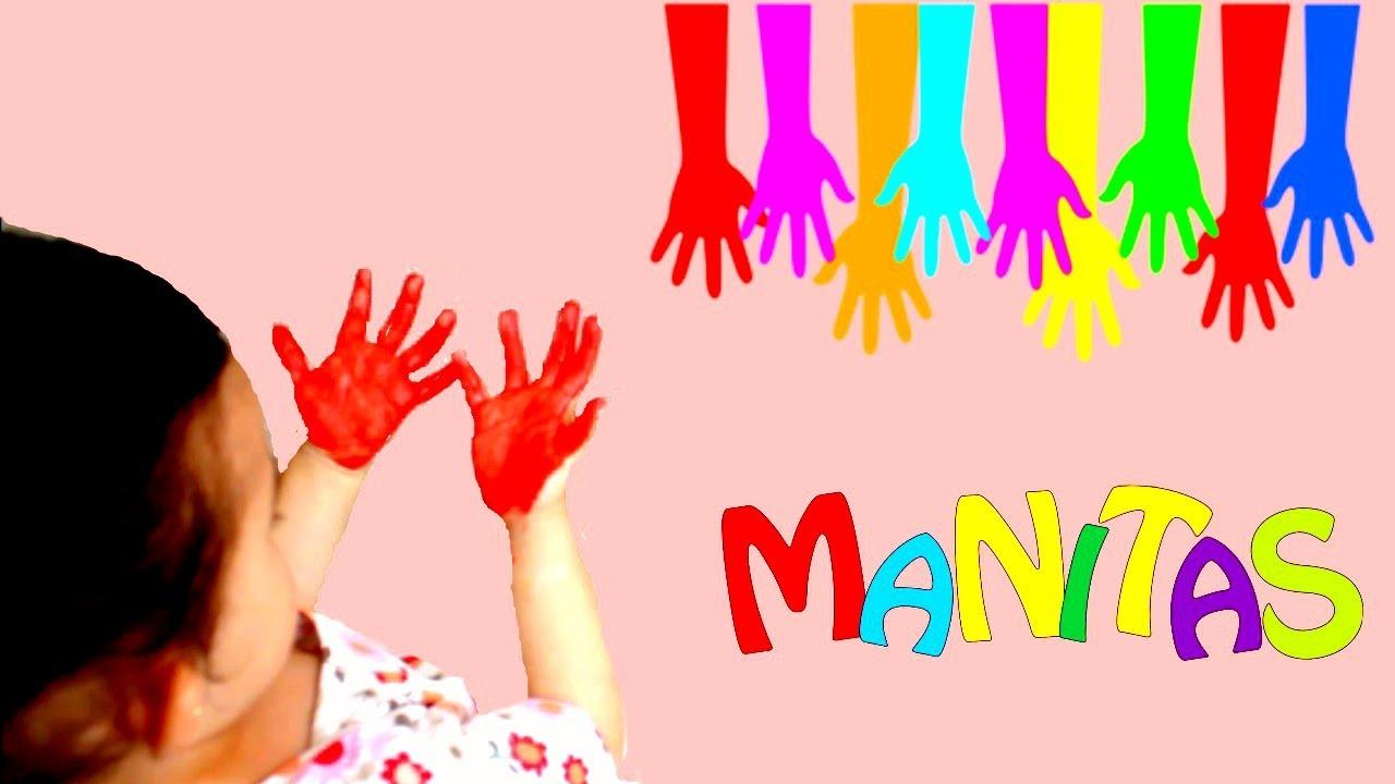 LOS COLORES/ Pintar las manos de Colores - YouTube