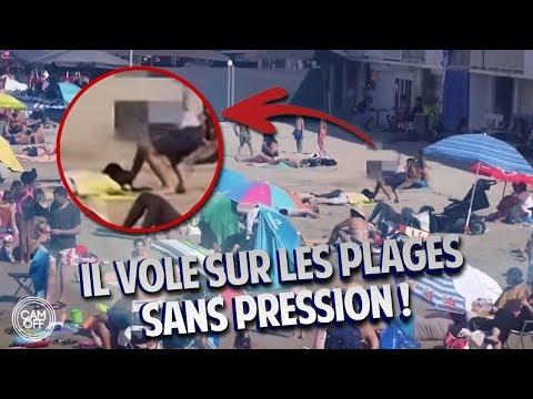 IL VOLE LES AFFAIRES DES GENS SUR LES PLAGES DE MARSEILLE ! ( CAM OFF ) thumbnail