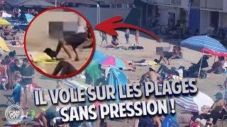 IL VOLE LES AFFAIRES DES GENS SUR LES PLAGES DE MARSEILLE ! ( CAM OFF )