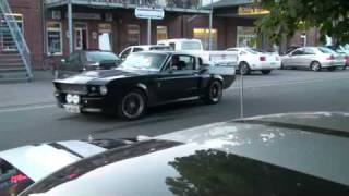 Ford Mustang Shelby GT500 Eleanor - great sound and small burnout