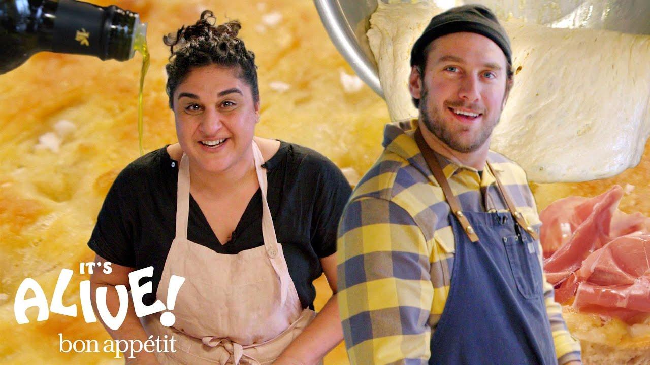 Brad Makes Focaccia Bread with Samin Nosrat | It's Alive | Bon Appétit