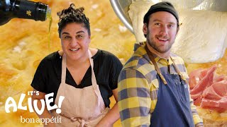 Brad Makes Focaccia Bread with Samin Nosrat | It\'s Alive | Bon Appétit