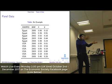 Lecture 7 Panel Data Models (Part I)